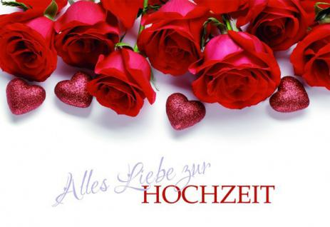 Hochzeitskarte Alles Liebe zur Hochzeit (6 Stck)