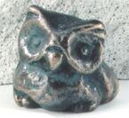 Eule, klein Bronzeskulptur 5 cm, patiniert