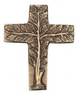 Lebensbaum Wandkreuz 20 x 16, 5 cm Bronze