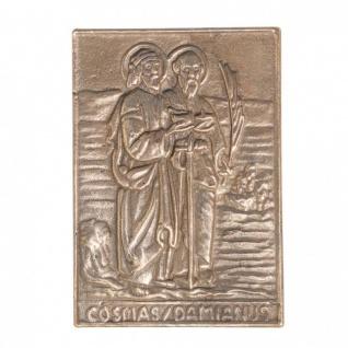 Namenstag Cosmas und Damian 8x6 cm Bronzeplakette