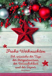 Weihnachtskarte Frohe Weihnachten (6 Stck)