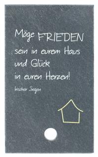 SchieferMoment Haussegen, zum Aufstellen 10 x 6 cm
