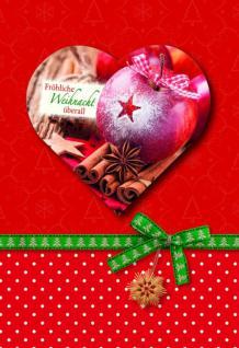 Weihnachtskarte Fröhliche Weihnacht überall (6 Stck)