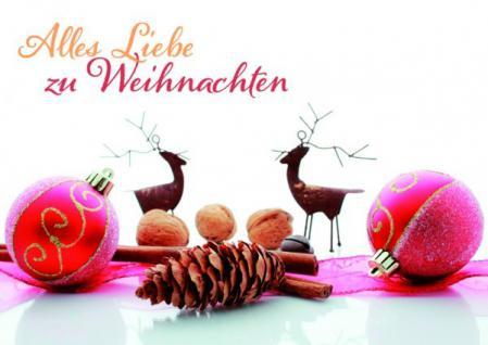 Weihnachtskarte Alles Liebe zu Weihnachten (6 Stck)