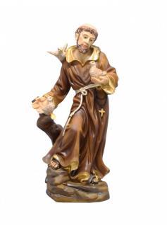 Heiliger Franziskus mit Tieren Schutzpatron bemalt 20 cm