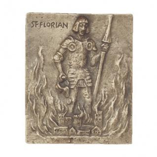 Namenstag Florian Bronzeplakette 13 x 10 cm Namenspatron