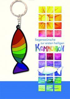 Doppelkarte Segenswünsche zur ersten heiligen Kommunion