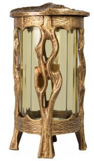 Grablaterne rund mit Deckel, Glaseinsatz, Kreuz 24 cm