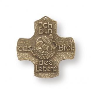 Erstkommunion Ich bin das Brot des Lebens 10 cm Bronze