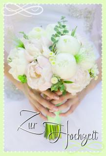 Hochzeitskarte Zur Hochzeit (6 Stck)