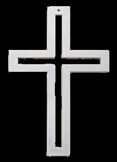 Wandkreuz Kreuz Edelstahl 18 cm