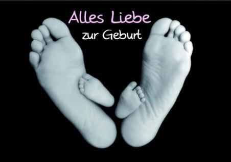 Geburtskarte Alles Liebe zur Geburt (6 Stck)
