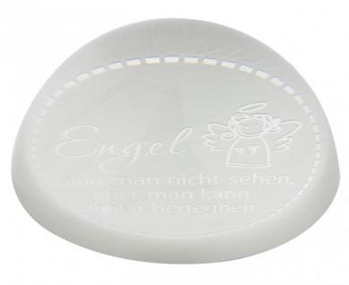 Briefbeschwerer Engel, Kristallglas 3, 8 cm sandgestrahlt
