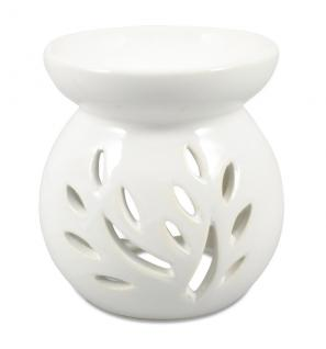 Duftlampe für Teelicht weiß Keramik 10 x 8 cm