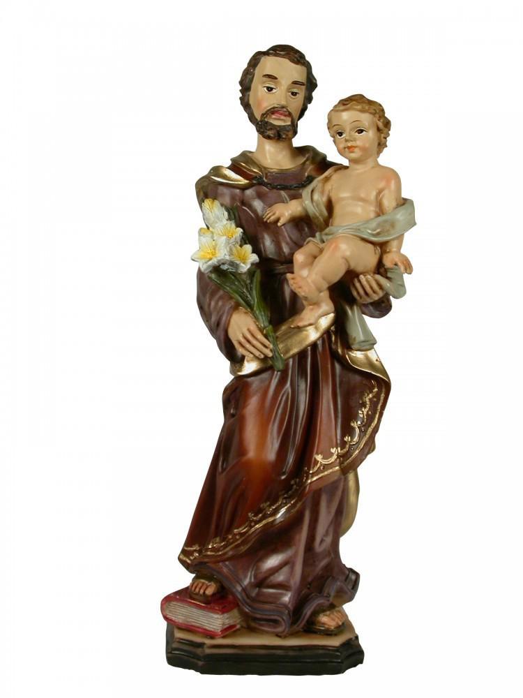 heiliger josef mit kind lilie handbemalt 30 cm heiligenfigur kaufen bei j ger graf gbr. Black Bedroom Furniture Sets. Home Design Ideas