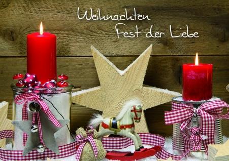 Weihnachtskarte Weihnachten Fest der Liebe (6 Stck)