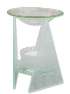 Aromalampe Glas Dekor weiß 13 cm