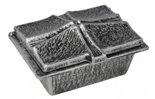 Grabweihkessel eckig, mit eingelassenem Kreuz 13, 5 x 9 cm