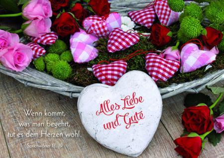Geburtstagskarte Alles Liebe und Gute (6 Stck)