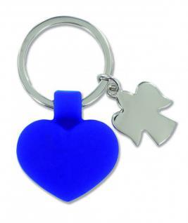 Schlüsselanhänger blaues Herz, Schutzengel