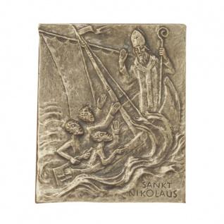 Namenstag Nikolaus Bronzeplakette 13 x 10 cm Namenspatron