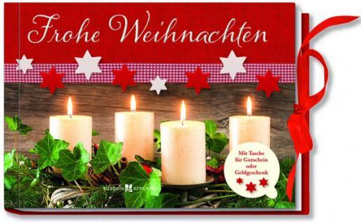 Geldgeschenkbuch Frohe Weihnachten