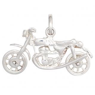 Kinder-Anhänger Motorrad 925 Sterlingsilber