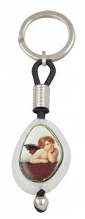 Engel Raphael Schlüsselanhänger mit Lederband - 11 cm