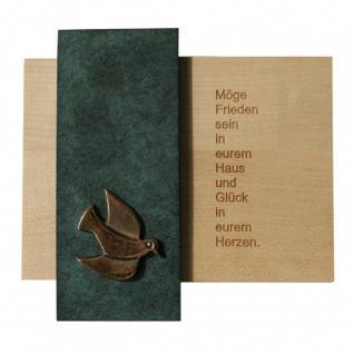 Haussegen -Möge Frieden sein in eurem Haus- 14 x 14 cm Bronze