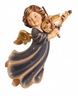 Putte Engelfigur mit Geige Holzschnitzereien