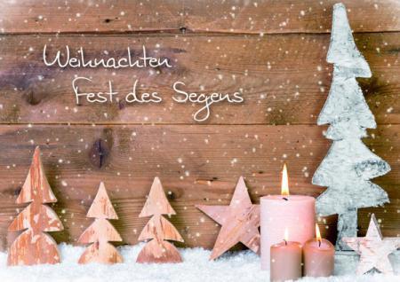 Weihnachtskarte Weihnachten Fest des Segens (6 Stck)