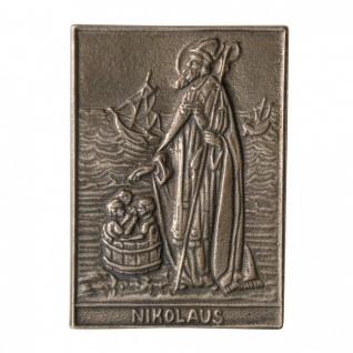 Namenstag Nikolaus 8 x 6 cm Bronzeplakette