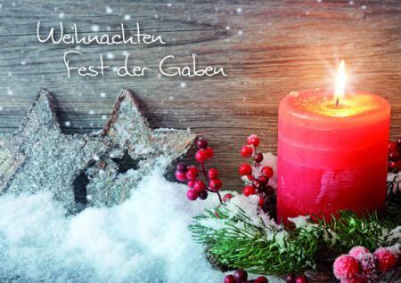 Weihnachtskarte Weihnachten Fest der Gaben (6 Stck)