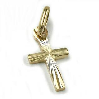 Anhänger-Kreuz diamantiert 14Kt GOLD