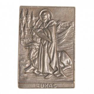 Namenstag Lukas 8 x 6 cm Bronzeplakette