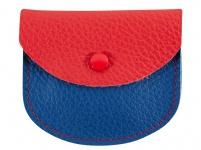 Rosenkranz-Etui Leder rot blau 7, 5 x 6, 5 cm