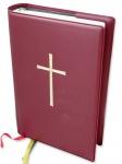 Gotteslob-Steckhülle Kreuz weinrot