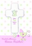 Geburtskarte mit Kreuz, Herzlich willkommen... (1 Stck)
