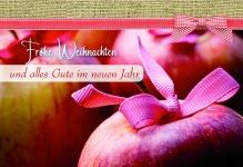 Weihnachtskarte mit Rezept Frohe Weihnachten... (6 Stck)
