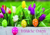 Osterkarte Fröhliche Ostern (10 Stck)