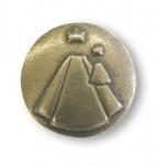 Handschmeichler Mutter Gottes Ø 4 cm Bronze