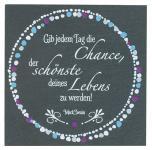 SchieferMoment Chance 10 x 10 cm, Mark Twain
