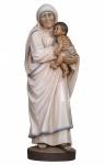 Heilige Mutter Teresa Holzfigur geschnitzt handbemalt