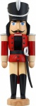 Nussknacker Husar Esche lasiert rot 28 cm Holz-Figur Handarbeit Erzgebirge