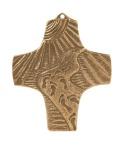 Wandkreuz Spuren im Sand 8, 5 x 8, 0 cm Bronze