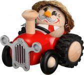 Räuchermännchen Bauer im Traktor 10 cm Erzgebirge