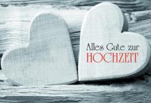 Hochzeitskarte Alles Gute zur Hochzeit, Herz (6 Stck)
