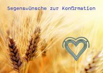 Konfirmationskarte mit Herz, Segenswünsche... (6 Stck)