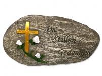 Grabschmuck Sinnspruch In stillem Gedenken 16, 6 cm