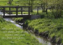 Postkarte Brücke im Park (10 Stck)